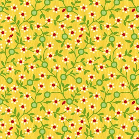 Road Trip Henry Glass Fabrics Daisy Vine Yellow 2138-33