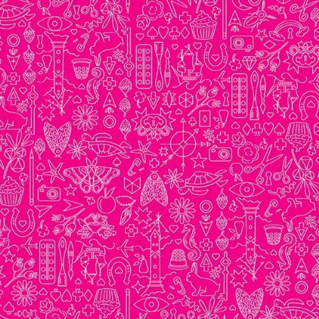 Sun Prints 2019 Andover Fabrics Collection Strawberry Pink