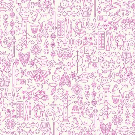 Sun Prints 2019 Andover Fabrics Collection Cupcake White / Pink