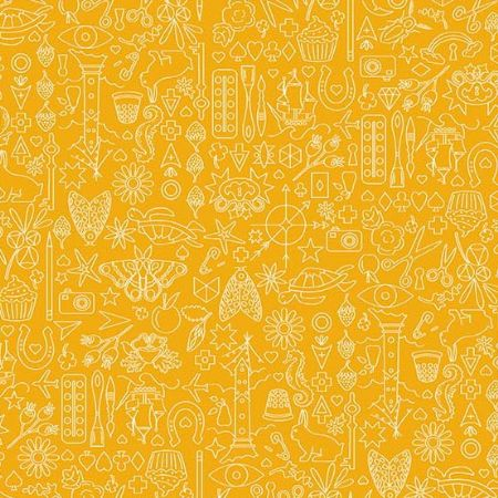 Sun Prints 2019 Andover Fabrics Collection Chartreuse Yellow