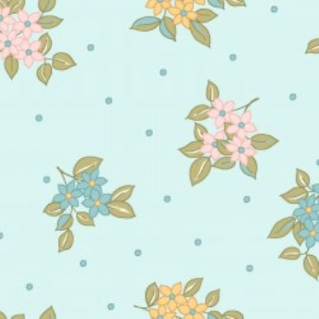 Sunlit Blooms from Maywood Studios Dots & Blooms Blue