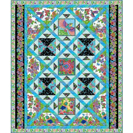 Quilt Kit Top Rainbow Flight by Hello Angel Finished Size: 75 x 90