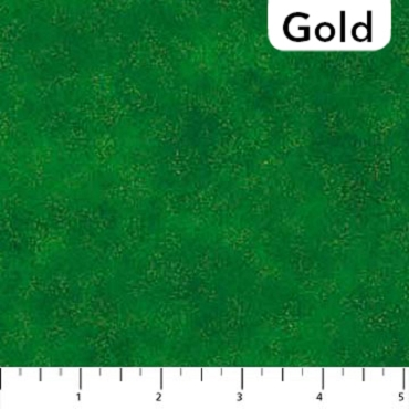 Shimmer Radiance Northcott Evergreen - Gold