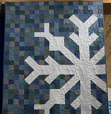 Quilt Kit Top Snowflake 60 x 72