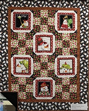 Quilt Kit Top Snow Bird  Flannel Fabric 61 x 76