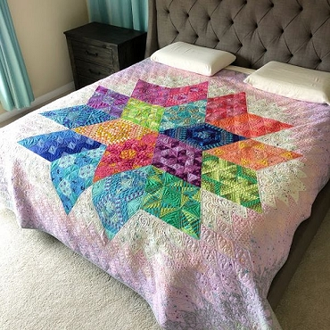 Nebula Block of the Month Reservation Featuring Tula Pink and Jaybird Quilts
