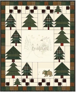 Quilt Kit Top Woodland Getaway by Quilt Doodle Designs Finished size: 56 x 68