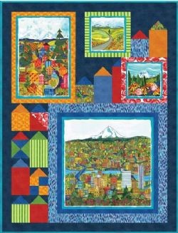 Quilt Kit Top Quiltlandia by Debbie Beaves Finished size: 38 x 50