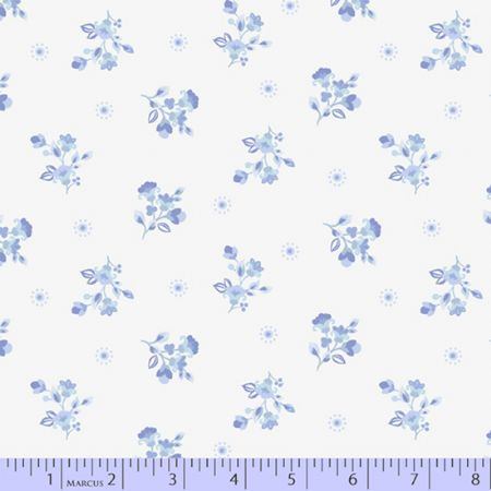 Celeste Marcus Fabrics-Spring Dot Light Blue