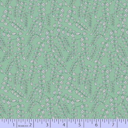 Dancing At Dusk Studio 37 Fabrics Trailing Vine Green