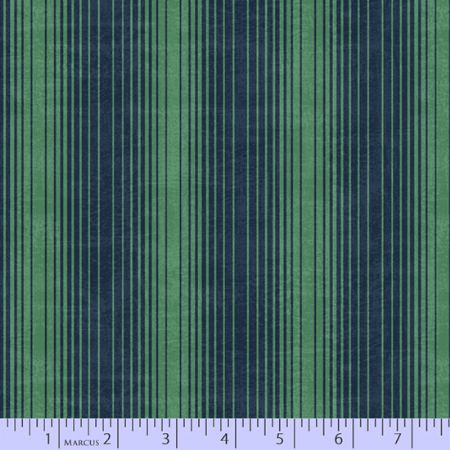 Dancing At Dusk Studio 37 Fabrics Fan Stripe Green