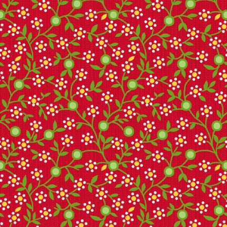 Road Trip Henry Glass Fabrics Daisy Vine Red 2138-88