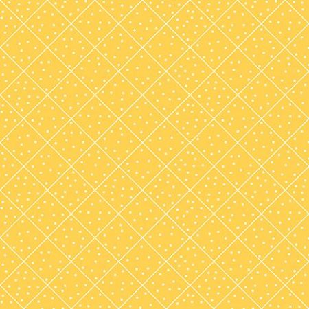 The Quilted Cottage QT Fabrics dotted diamond check yellow 26430-s