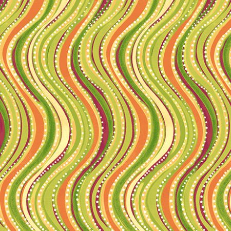 Oliva Quilting Treasures Wavy Stripe Light Green