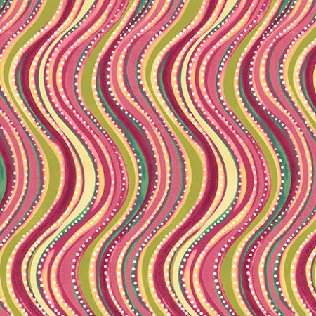 Oliva Quilting Treasures Wavy Stripe Pink