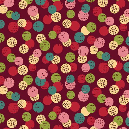 Olivia Quilting Treasures Dots Wine