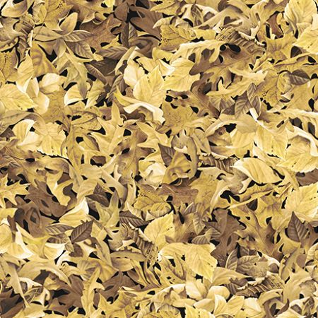 Labrador-able Qt Fabrics Leaves light gold