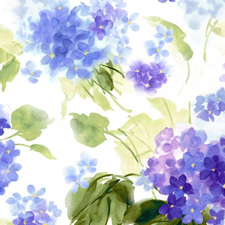 Hydrangea Blossoms Quilting Treasures Watercolor Hydrangeas White