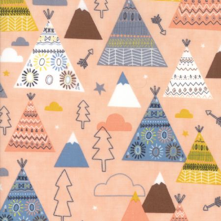 Wild and Free by Abi Hall for Moda Teepees Trees rosie