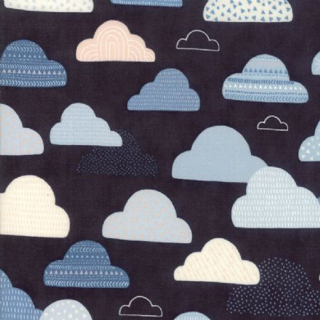 Wild and Free by Abi Hall for Moda Cloudy Skies Midnight