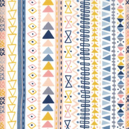 Wild and Free by Abi Hall for Moda Tribal Stripe Natural