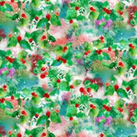 Sassy Holiday Collection 3 Wishes Fabric Holly