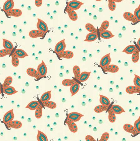 Gypsy Windham Fabrics Butterflies Cream