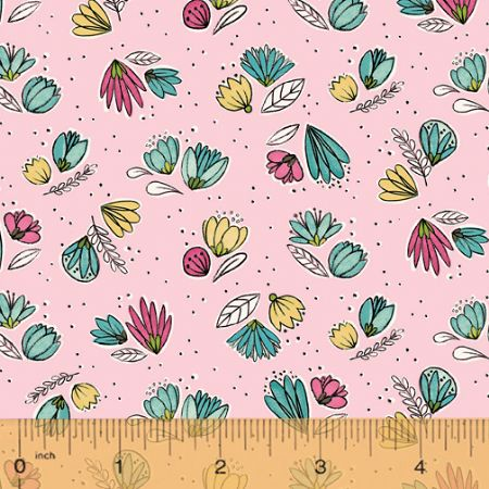 Catnip Windham Studios Floral small tossed Pink