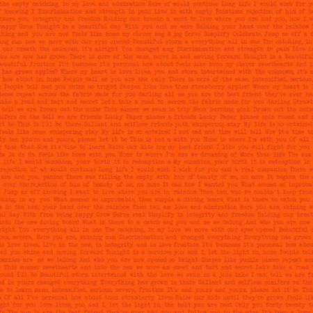 Sun Prints 2019 Andover Fabrics Words Path Happy Orange