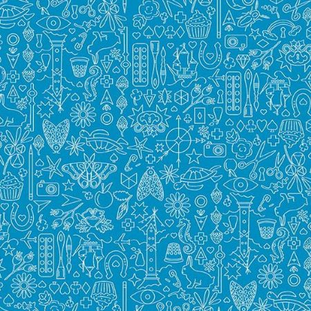 Sun Prints 2019 Andover Fabrics Collection Sailboat Blue