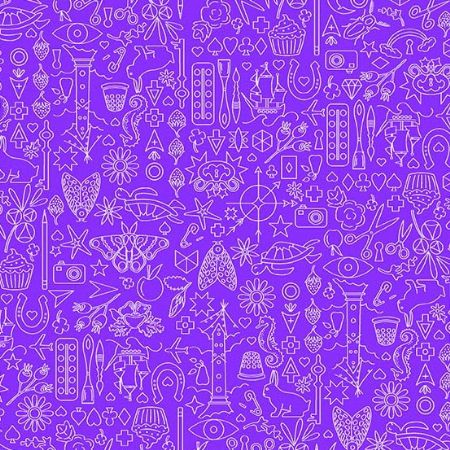 Sun Prints 2019 Andover Fabrics Collection Aster Purple