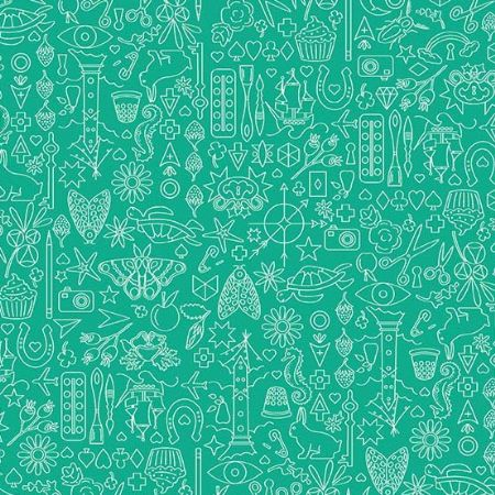 Sun Prints 2019 Andover Fabrics Collection Turtle Teal