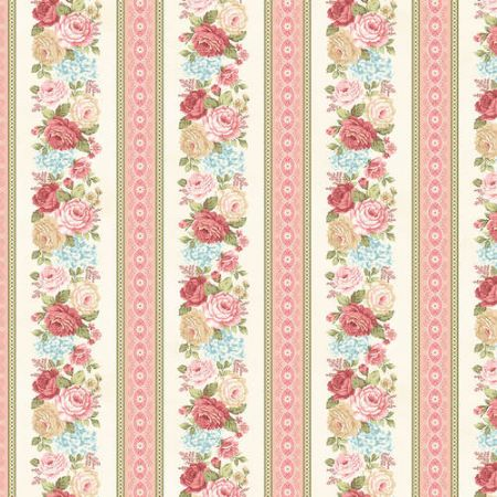 A Peaceful Gardens Henry Glass Flannel Border stripe