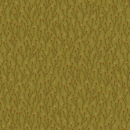 October Morning Henry Glass Fabrics Acorn Thicket Green