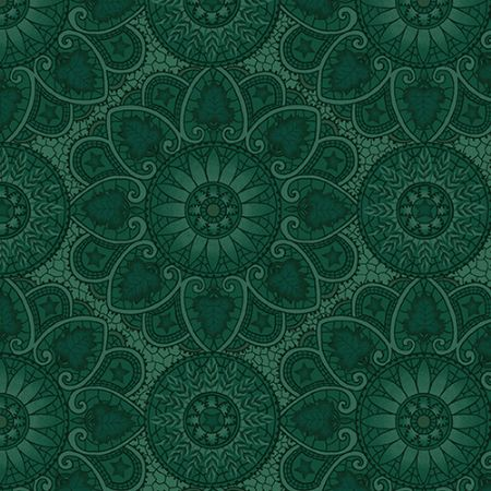 October Morning Henry Glass Fabrics Autumn Mandala Teal
