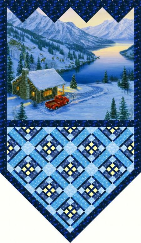 Quilt Kit Top Back to Nature from Pine Tree Country Quilts 40 x 67;