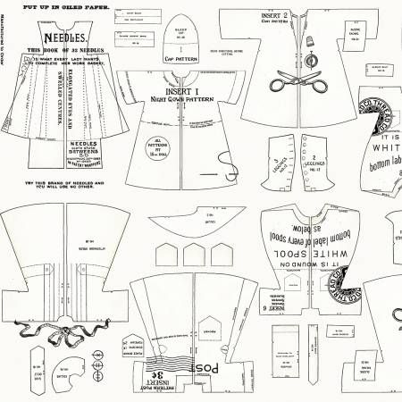 Paperdoll Riley Blake Designs Cloths Off White