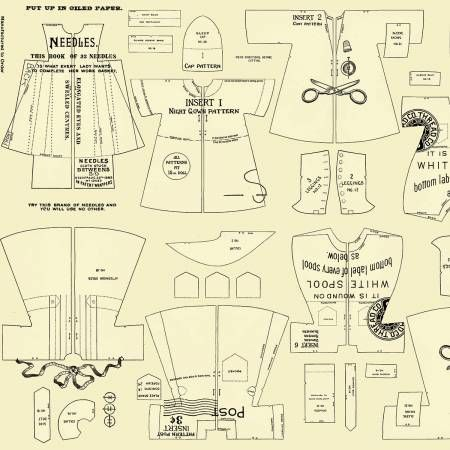 Paperdoll Riley Blake Designs Cloths Yellow