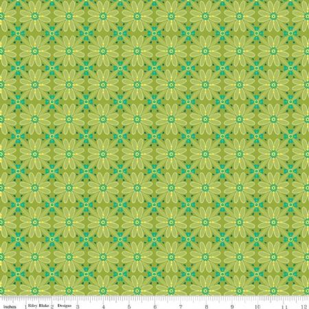 Wildflower Boutique Riley Blake Mosaic green