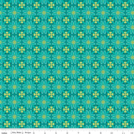Wildflower Boutique Riley Blake Mosaic teal