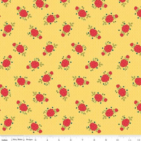 Wildflower Boutique Riley Blake Flowers Yellow