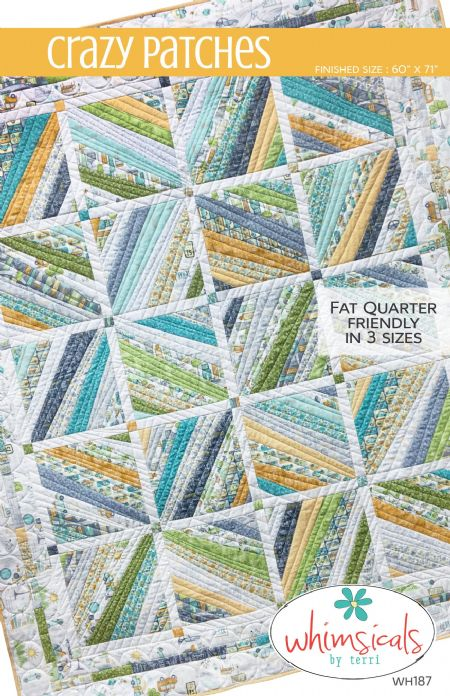 Quilt Pattern Crazy Patches by Whimsicals 3 sizes