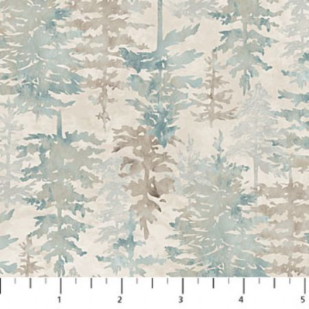 Misty Mountain Flannel Earth Northcott Studio Forest Tonal