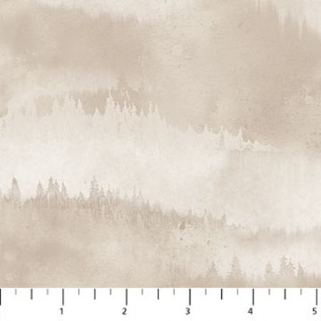Misty Mountain Flannel Earth Northcott Studio Trees Tonal Tan