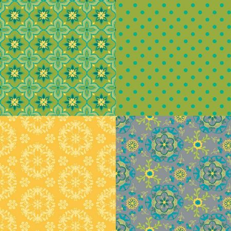 Wildflower Boutique Riley Blake Panel Fat Quarter 36 x 44 GREEN