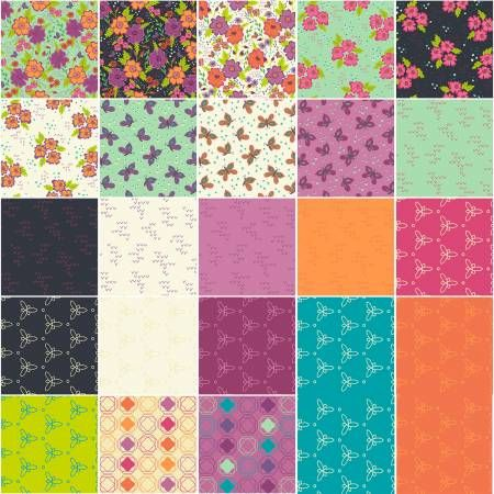 Gypsy Windham Fabrics Fat Quarter Bundle 23 @ 18''x 21''