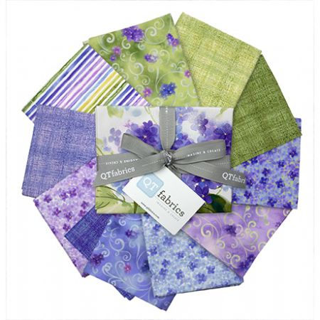 Hydrangea Blossoms Quilting Treasures Fat Quarter Bundle 12 @ 18 x 22