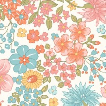 Sunlit Blooms from Maywood Studios Moonlit Floral  Soft White
