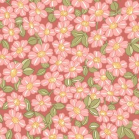 Sunlit Blooms from Maywood Studios Packed Daisy Pink
