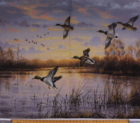 Fish and Fowl, Mallard Panel, Riley Blake 36 x 44,